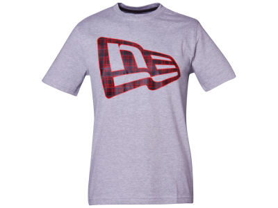 New Era Branded Plaid Flag T-Shirt