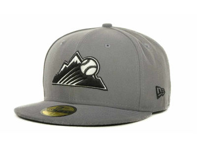Colorado Rockies MLB Gray BW 59FIFTY Cap Hats
