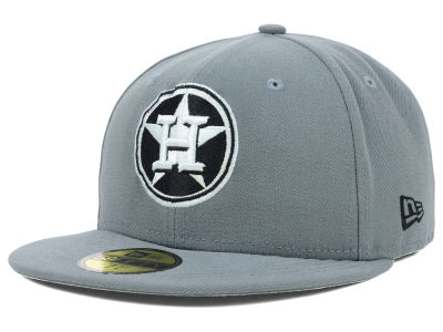 Houston Astros MLB Gray BW 59FIFTY Cap Hats