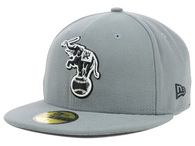 Oakland Athletics MLB Gray BW 59FIFTY Cap Hats