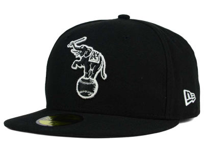 Oakland Athletics MLB Black and White Fashion 59FIFTY Cap Hats