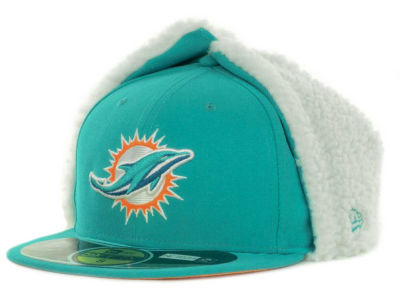 Miami Dolphins NFL On Field Dog Ear 59FIFTY Cap Hats