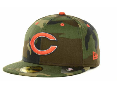 Chicago Bears NFL Camo Pop 59FIFTY Cap Hats