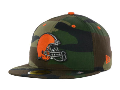 Cleveland Browns NFL Camo Pop 59FIFTY Cap Hats