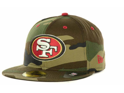 San Francisco 49ers NFL Camo Pop 59FIFTY Cap Hats