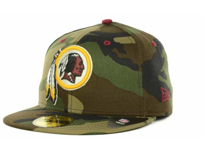 Washington Redskins NFL Camo Pop 59FIFTY Cap Hats