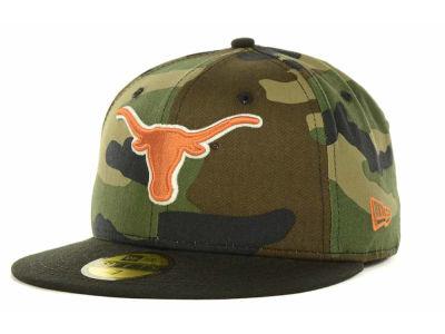 Texas Longhorns New Era Ncaa Woodland Camo 59fifty Cap