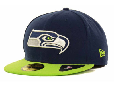 Seattle Seahawks NFL 2 Tone 59FIFTY Cap Hats