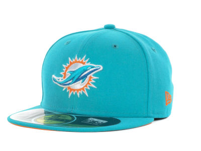 Miami Dolphins NFL Official On Field 59FIFTY Cap Hats