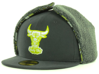 Chicago Bulls NBA Hardwood Classics Pattern'd Up Dog Ear 59FIFTY Cap Hats