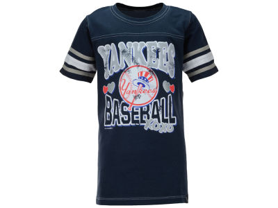 New York Yankees MLB Youth Girls XOXO T-Shirt