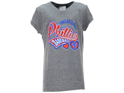 Philadelphia Phillies MLB Youth Girls Love Glitter T-Shirt