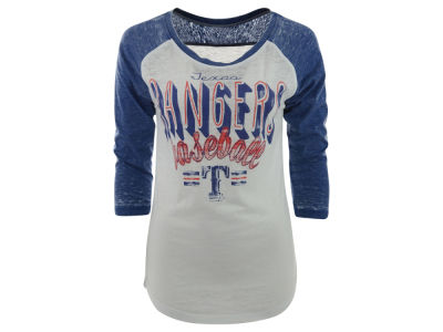 Texas Rangers MLB Women's Burnout Raglan T-Shirt
