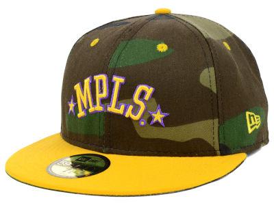 b1418c01 Minneapolis Lakers New Era NBA Hardwood Classics GO Custom 59FIFTY Cap    lids.com