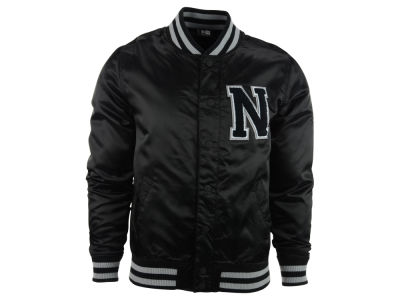 New Era Branded Satin Varsity Jacket