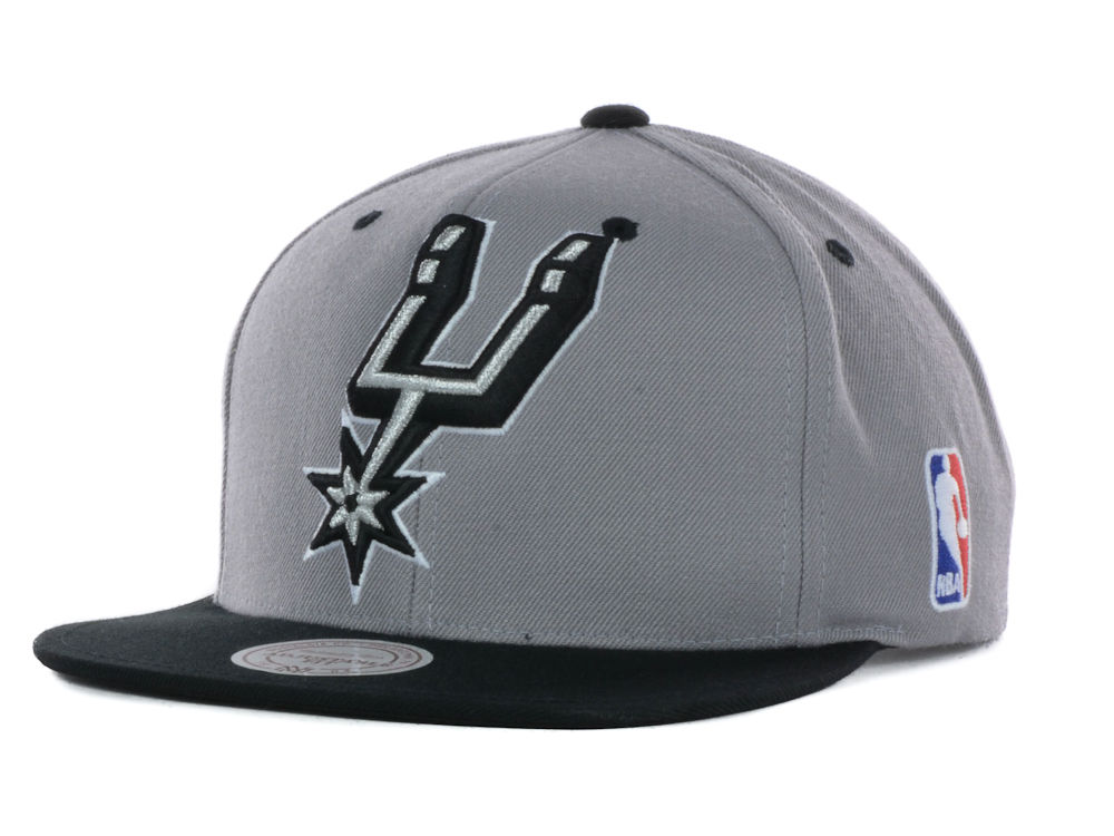 66c8adfb710 San Antonio Spurs Mitchell and Ness NBA Under Over Snapback Cap cheap