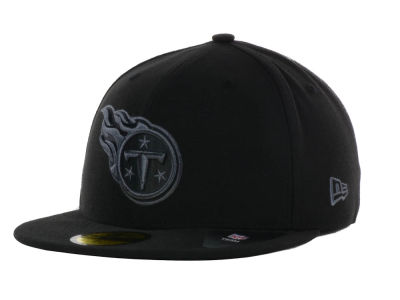 Tennessee Titans NFL Black Gray Basic 59FIFTY Cap Hats