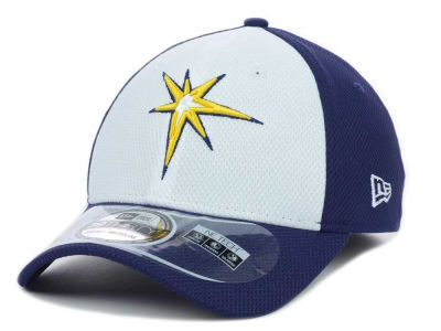 Tampa Bay Rays MLB Diamond Era White Front 39THIRTY Cap Hats