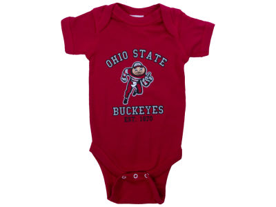 NCAA Newborn Red Buckeye Onesie