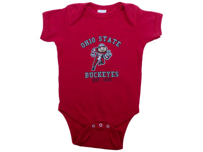 NCAA Infant Red Buckeye Onesie