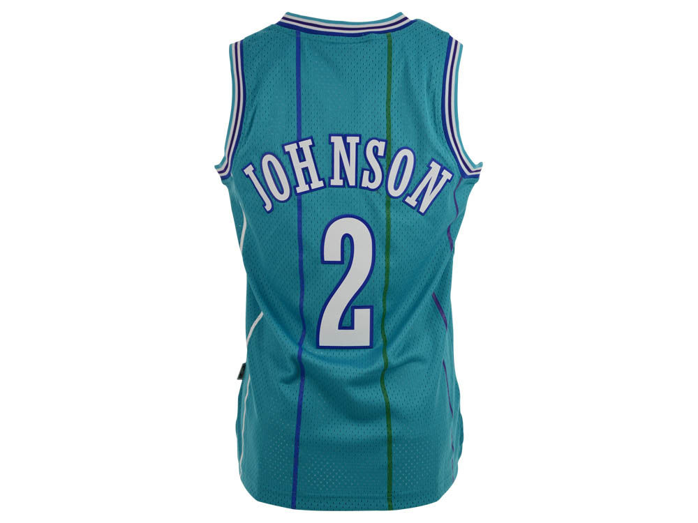 722abc6f030 high-quality Charlotte Hornets Larry Johnson adidas NBA Retired Player  Swingman Jersey