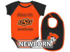 Oklahoma State Cowboys Colosseum NCAA Newborn Weasel Onesie Bib Set Infant Apparel