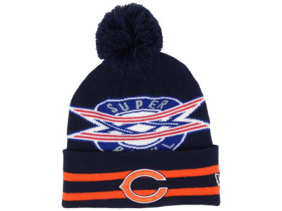 Chicago Bears NFL Super Bowl Super Wide Point Knit Hats