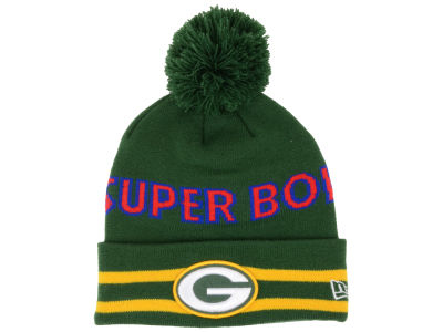 Green Bay Packers NFL Super Bowl Super Wide Point Knit Hats