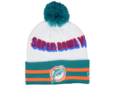 Miami Dolphins NFL Super Bowl Super Wide Point Knit Hats