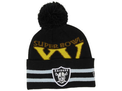 Oakland Raiders NFL Super Bowl Super Wide Point Knit Hats