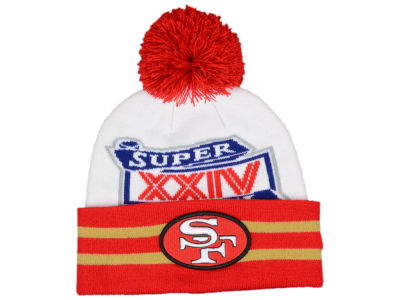 San Francisco 49ers NFL Super Bowl Super Wide Point Knit Hats