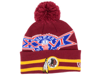 Washington Redskins NFL Super Bowl Super Wide Point Knit Hats