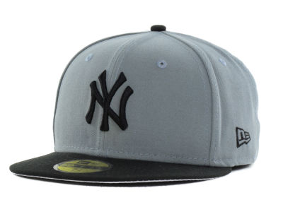 New York Yankees MLB FC Gray Black 59FIFTY Cap Hats