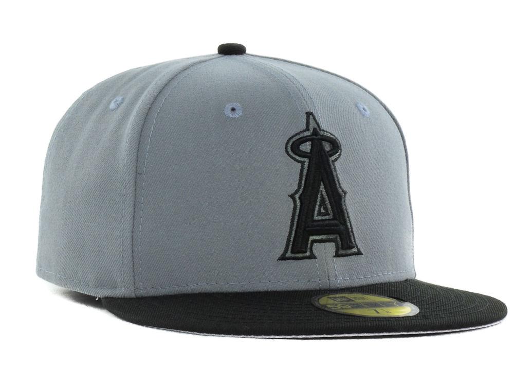 free shipping cf36b c3e1b new Los Angeles Angels New Era MLB FC Gray Black 59FIFTY Cap