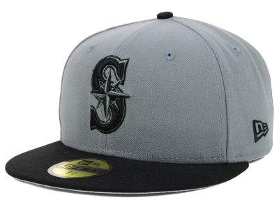 Seattle Mariners MLB FC Gray Black 59FIFTY Cap Hats