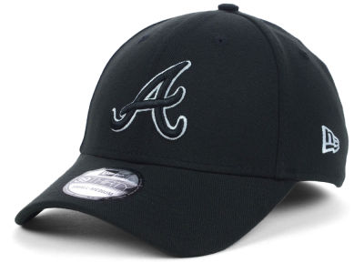 Atlanta Braves MLB Black White Classic 39THIRTY Cap Hats