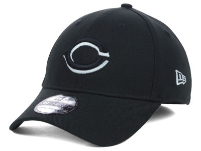 Cincinnati Reds MLB Black White Classic 39THIRTY Cap Hats