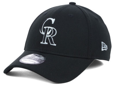 Colorado Rockies MLB Black White Classic 39THIRTY Cap Hats
