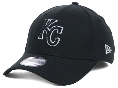 Kansas City Royals MLB Black White Classic 39THIRTY Cap Hats