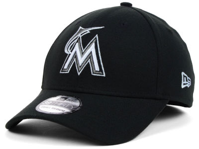 Miami Marlins MLB Black White Classic 39THIRTY Cap Hats
