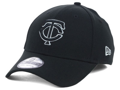 Minnesota Twins MLB Black White Classic 39THIRTY Cap Hats
