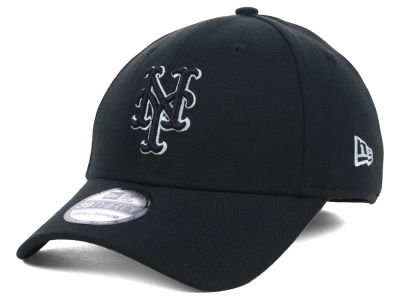 New York Mets MLB Black White Classic 39THIRTY Cap Hats