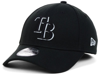 Tampa Bay Rays MLB Black White Classic 39THIRTY Cap Hats