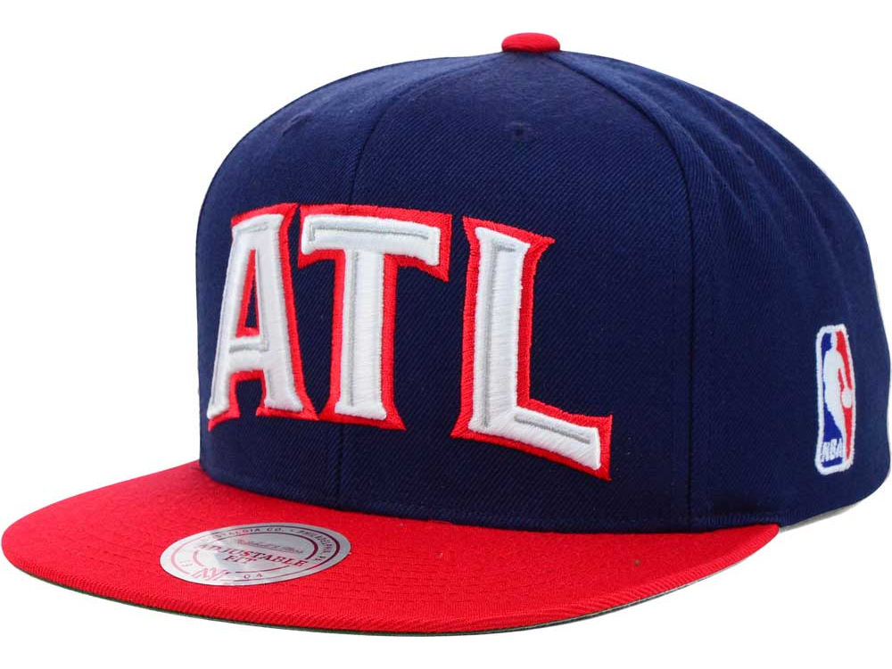 773ba3ea 80%OFF Atlanta Hawks Mitchell and Ness NBA XL Logo Snapback Cap ...