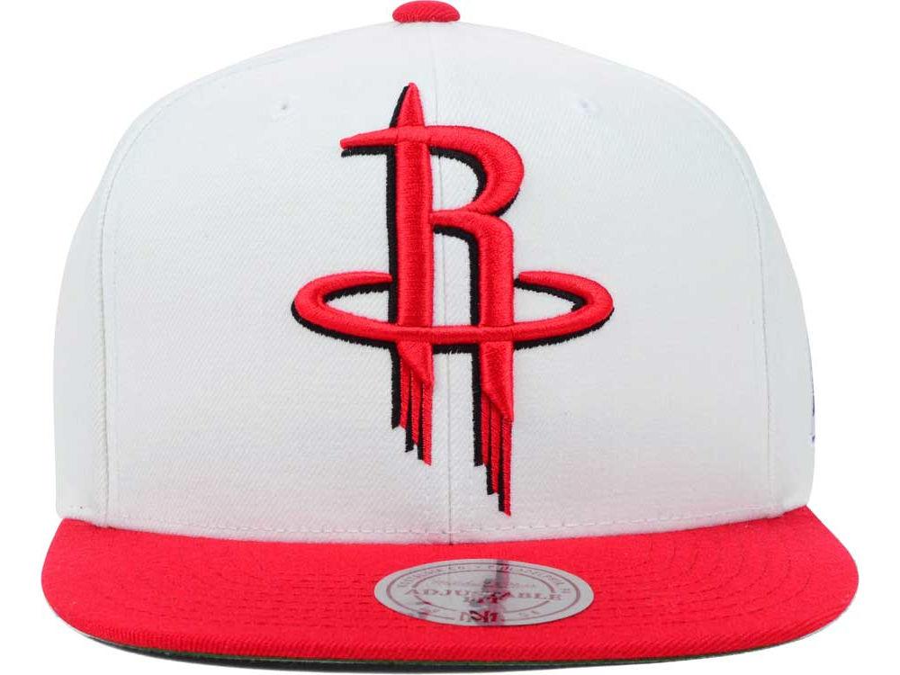sports shoes 474cb 9ec92 hot sale Houston Rockets Mitchell and Ness NBA XL Logo Snapback Cap