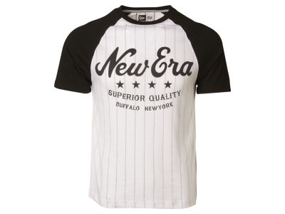 New Era Branded Stripe Raglan T-Shirt