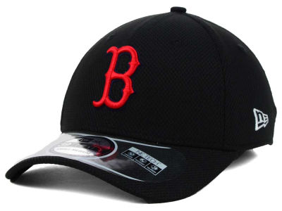 Boston Red Sox MLB Diamond Era Black 39THIRTY Cap Hats