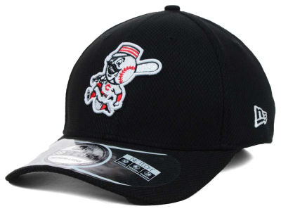 Cincinnati Reds MLB Diamond Era Black 39THIRTY Cap Hats