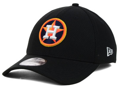 Houston Astros MLB Diamond Era Black 39THIRTY Cap Hats