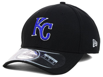 Kansas City Royals MLB Diamond Era Black 39THIRTY Cap Hats